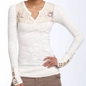 FREE PEOPLE Patchwork Studded Cuff Thermal (Rare)